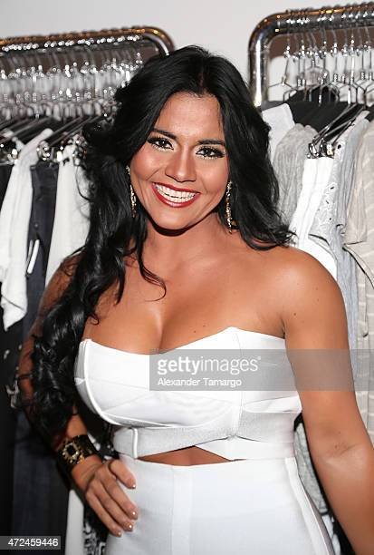Maripily Rivera poses at Studio LX during the clothing launch of Chiquinquira Delgado in collaboration with David Lerner on May 7 2015 in Miami...