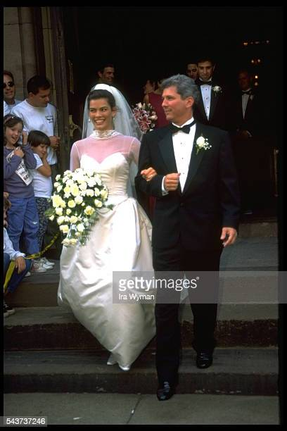 Marirage of American figure skater Nancy Kerrigan and her agent Jerry Solomon