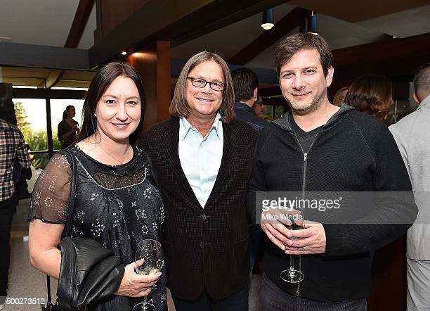 Marisa Baldi, John Baldi and Matt Marshall attend the MusiCares house concert with Ben Gibbard, St. Vincent and The War On Drugs on December 6, 2015...