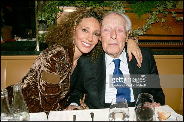 Marisa Berenson and Baron Guy De Rothschild at the Arielle Dombasle Concert In Aid Of Reporters Sans Frontieres At Theatre Des Champs Elysees In Paris