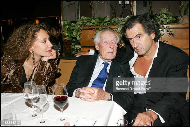 Marisa Berenson and Baron Guy De Rothschild Bernard Henri Levy at the Arielle Dombasle Concert In Aid Of Reporters Sans Frontieres At Theatre Des...