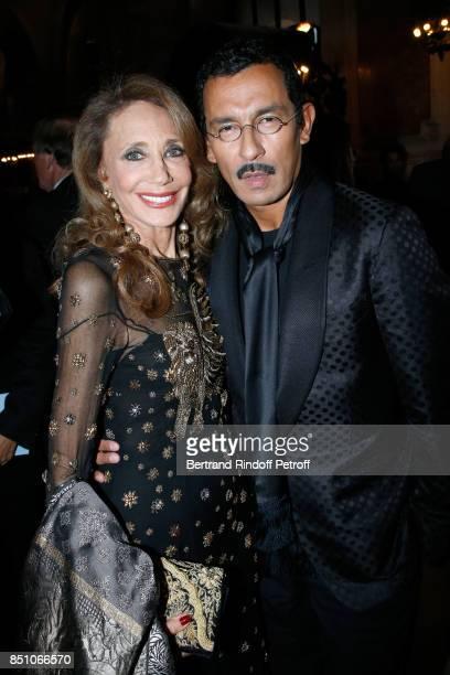 Marisa Berenson and Haider Ackermann attend the Opening Season Gala Ballet of Opera National de Paris Held at Opera Garnier on September 21 2017 in...