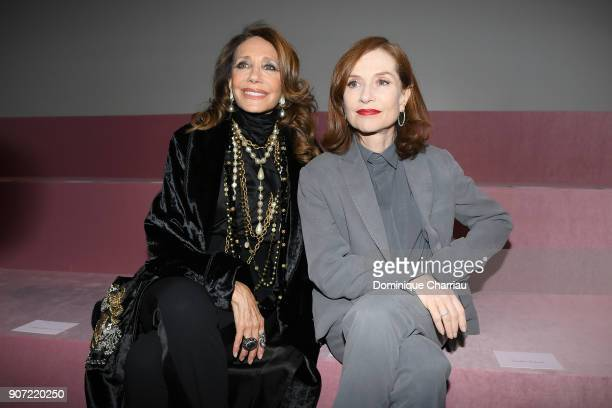 Marisa Berenson and Isabelle Huppert attend the Berluti Menswear Fall/Winter 20182019 show as part of Paris Fashion Week on January 19 2018 in Paris...