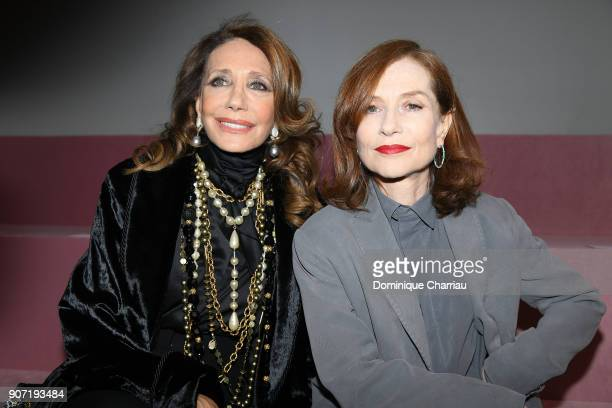Marisa Berenson and Isabelle Huppert attend the Bertluti Menswear Fall/Winter 20182019 show as part of Paris Fashion Week on January 19 2018 in Paris...