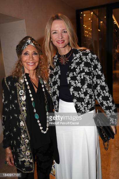 """Marisa Berenson and Louis Vuitton's executive vice president Delphine Arnault attend Doris Brynner celebrates her 90th Birthday at """"Le Cheval Blanc..."""