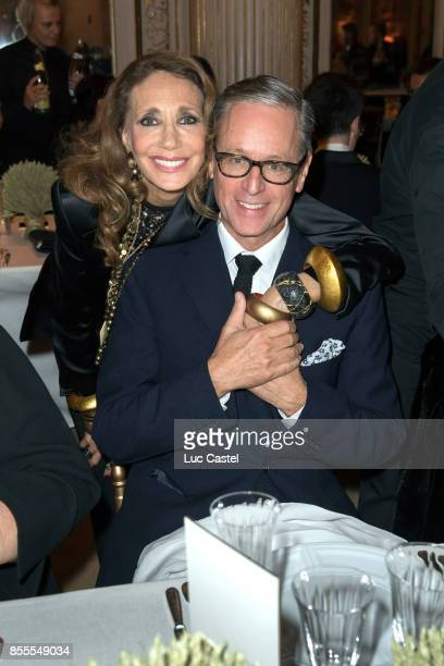 Marisa Berenson and Madison Cox attend the Opening Party at Yves Saint Laurent Museum as part of the Paris Fashion Week Womenswear Spring/Summer 2018...