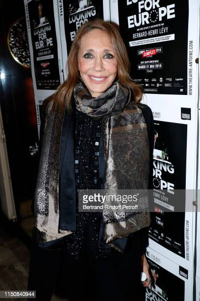 "Marisa Berenson attends Bernard-Henri Levy performs in ""Looking for Europe"" at Theatre Antoine on May 21, 2019 in Paris, France."