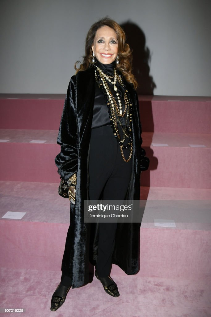 Marisa Berenson attends the Berluti Menswear Fall/Winter 2018-2019 show as part of Paris Fashion Week on January 19, 2018 in Paris, France.