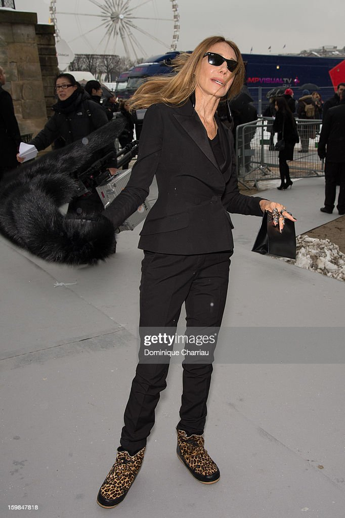 Marisa Berenson attends the Christian Dior Spring/Summer 2013 Haute-Couture show as part of Paris Fashion Week at on January 21, 2013 in Paris, France.