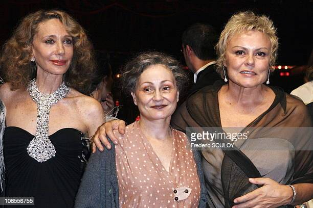 Marisa Berenson Catherine Arditi and Muriel Robin in Paris France on October 26 2006