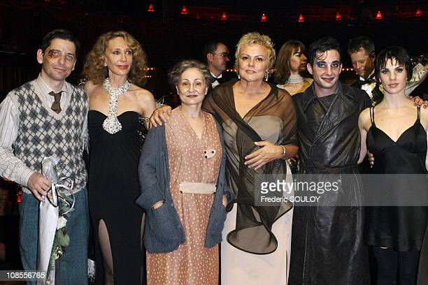 Marisa Berenson Catherine Arditi Muriel Robin and Claire Perot in Paris France on October 26 2006
