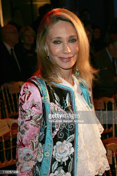 Marisa Berenson during Paris Fashion Week - Haute Couture Spring/Summer 2006 - Valentino - Front Row at Ecole Nationale des Beaux Arts in Paris,...