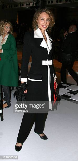 Marisa Berenson during Paris Fashion Week - Spring Summer 2007 - Valentino Arrivals and Backstage in Paris, France.