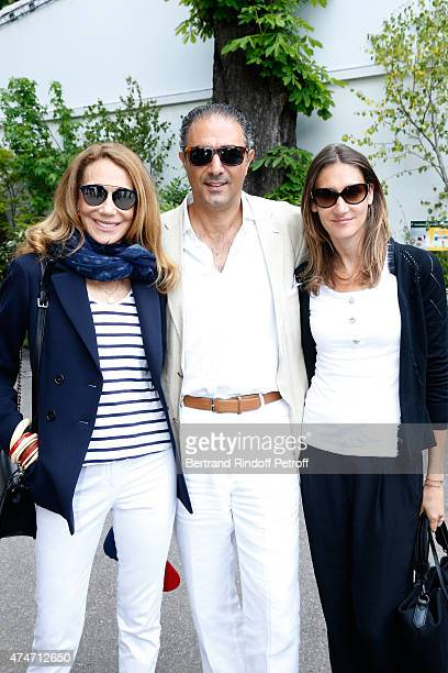Marisa Berenson her compagnon Jean Michel Simonian and her Daughter Starlight attend the 2015 Roland Garros French Tennis Open Day 2 on May 25 2015...