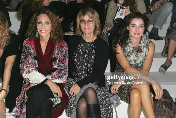 Marisa Berenson Nicole Garcia and Luisa Ranieri attend the Kenzo Pret a Porter show as part of the Paris Womenswear Fashion Week Spring/Summer 2010...