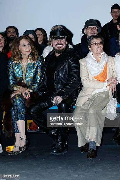 Marisa Berenson, Peter Marino and Olga Berluti attend the Berluti Menswear Fall/Winter 2017-2018 show as part of Paris Fashion Week on January 20,...
