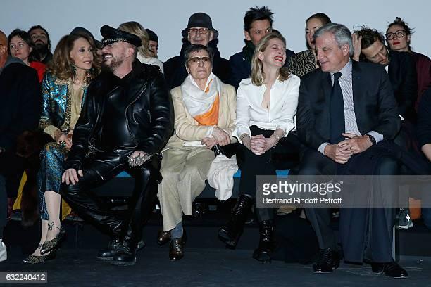 Marisa Berenson, Peter Marino, Olga Berluti and CEO Dior Sidney Toledano attend the Berluti Menswear Fall/Winter 2017-2018 show as part of Paris...