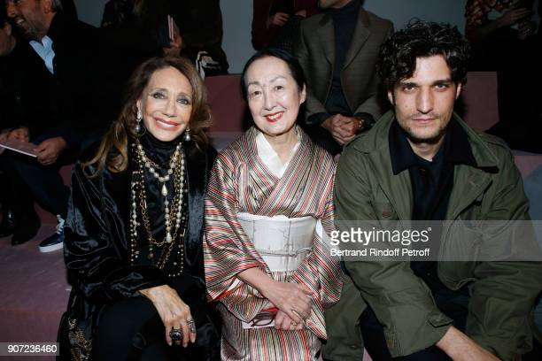 Marisa Berenson Setsuko Klossowska de Rola and Louis Garrel attend the Berluti Menswear Fall/Winter 20182019 show as part of Paris Fashion Week on...
