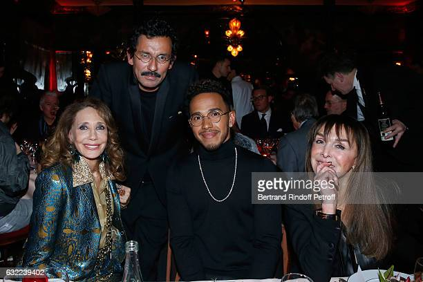 Marisa Berenson Stylist of Berluti Men Haider Ackermann Lewis Hamilton and Babeth Djian attend the Berluti Dinner as part of Paris Fashion Week...