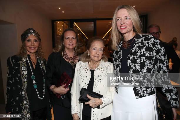 Marisa Berenson, Victoria Brynner, Doris Brynner and Louis Vuitton's executive vice president Delphine Arnault attend Doris Brynner celebrates her...