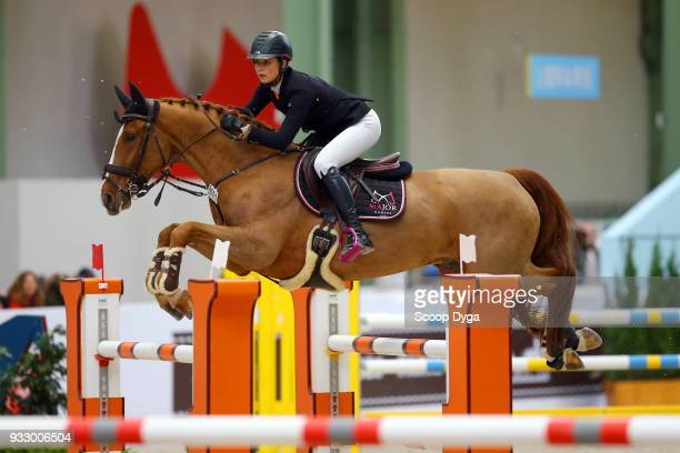 Marisa BRAIG and Pablito van Erpekom competes in the Talents Hermes CSIU25 of Le Saut Hermes 2018 at Grand Palais on March 16 2018 in Paris France