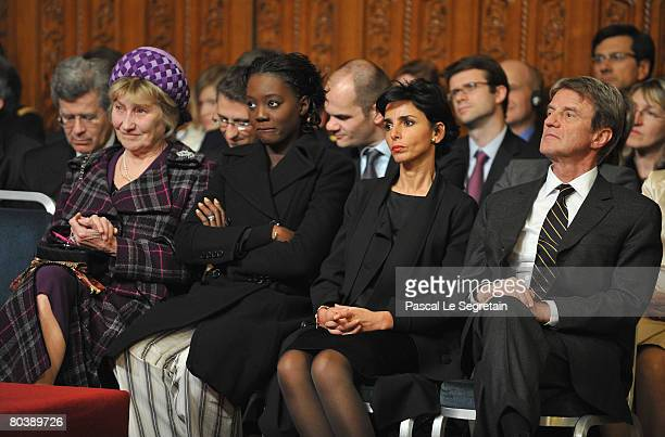 Marisa BruniTedeschi French State Secretary of Foreign Affairs Rama Yade French Minister of Justice Rachida Dati and French Minister of Foreign...