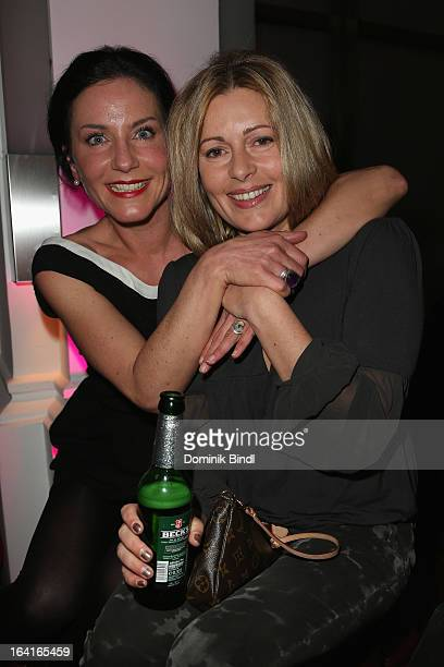 Marisa Burger and Karin Thaler attend the Ndf Afterwork Party at 8 Seasons on March 20 2013 in Munich Germany