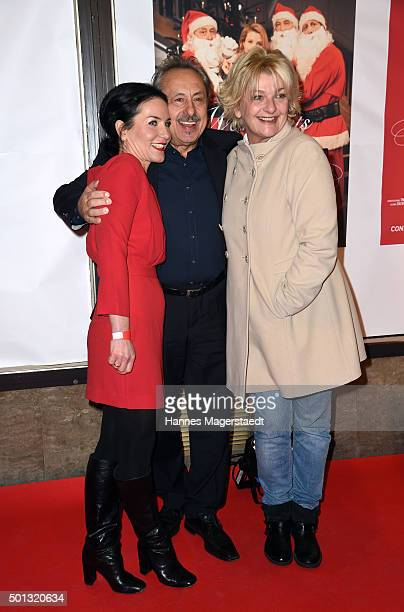 Marisa Burger Wolfgang Stumph and Saskia Vester attend the premiere of the film 'WeihnachtsMaenner' at Sendlinger Tor Kino on December 14 2015 in...