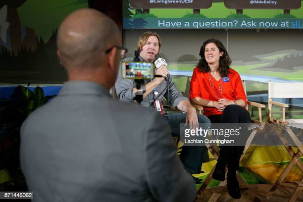 Marisa de Belloy CEO of Bay Area based nonprofit Cool Effect is interviewed at Dreamforce as part of the session on 'Sustainability Leadership in the...