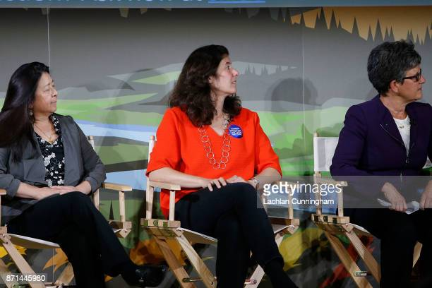 Marisa de Belloy CEO of Bay Area based nonprofit Cool Effect speaks at Dreamforce as part of the session on 'Sustainability Leadership in the Face of...