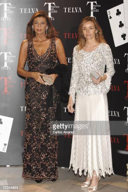 Marisa de Borbon and Miriam de Hungria attend TELVA Magazine Fashion Awards on October 23 2006 at Hotel Palace in Madrid Spain