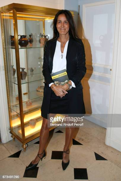 Marisa de Gaetano attends the presentation of the Book 'Scenes De Crime au Louvre' written by Christos Markogiannakis at Greece Ambassy on April 26...