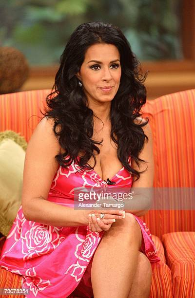 Marisa del Portillo appears on the new set of Escandalo TV for their 5th Anniversay episode on January 22 2007 in Miami Florida