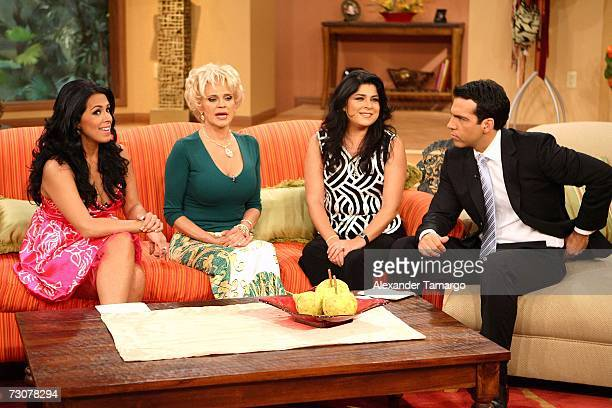 Marisa del Portillo Charytin Goyco Victoria Ruffo Felipe Viel appear on the new set of Escandalo TV for their 5th Anniversay episode on January 22...