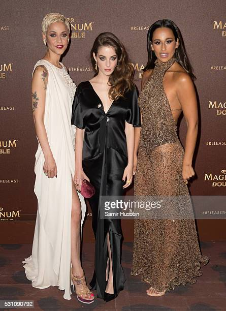 Marisa dos Reis Nunes also known as mariza Victoria Guerra and Rita Pereira attend the Magnum Doubles Party at the annual 69th Cannes Film Festival...