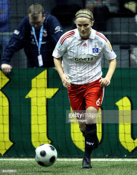 Marisa Ewers of Hamburger SV in action during final game of the THome DFB Indoor Cup at the Boerdelandhalle on January 24 2009 in Magdeburg Germany