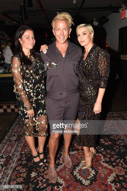 Marisa Hebert Derek Warburton and Zara Alexandrova attend the Nicole Miller Spring 2019 After Party at Acme on September 6 2018 in New York City