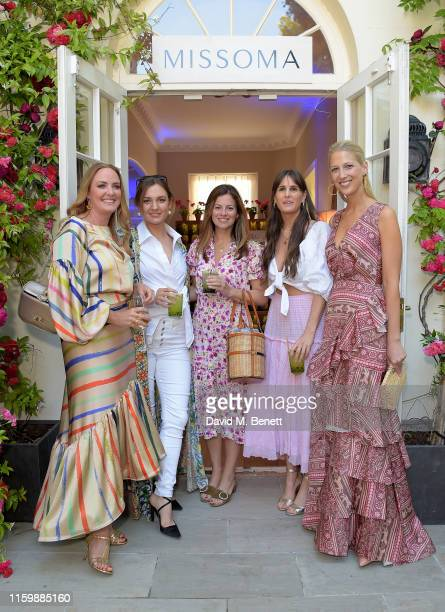 Marisa Hordern , Serena Hood , Lady Gabriella Windsor and guests attend the Missoma Summer Party at the Residence of the Embassy of Columbia on July...