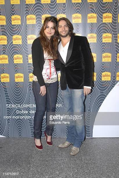 Marisa Jara and Joaquin Cortes during Calendario Larios Launch Party - Febraury 13, 2007 at Arola Madrid Restaurant in Madrid, Spain.