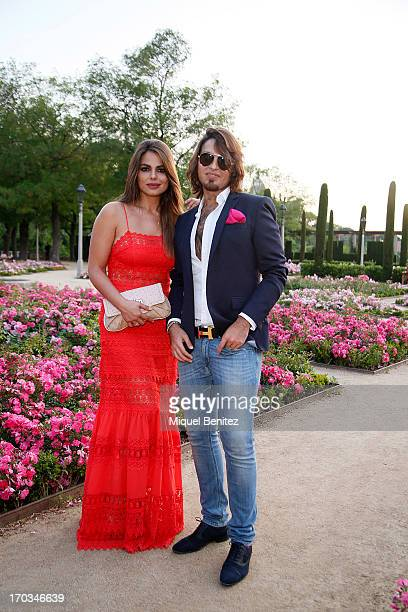 Marisa Jara and Manuel Vitorio pose on the Teatre Grec's gardens during the New Generation by Francina on June 11 2013 in Barcelona Spain