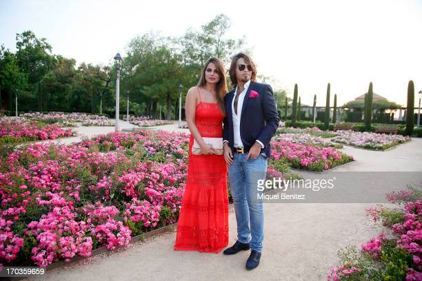 Marisa Jara and Manuel Vitorio pose on the Teatre Grec's gardens during the New Generation by Francina on June 11, 2013 in Barcelona, Spain.