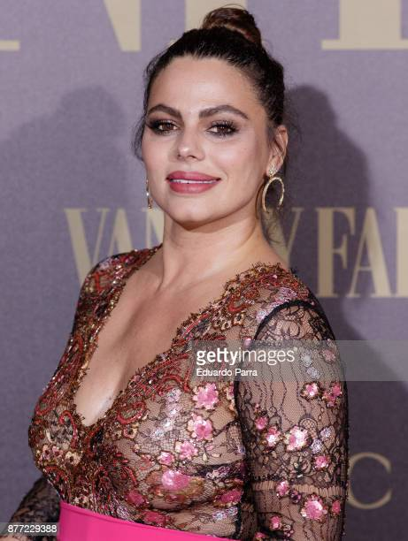 Marisa Jara attends the 'Vanity Fair Personality of the year' photocall at Ritz hotel on November 21 2017 in Madrid Spain