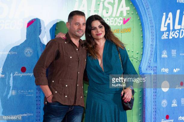 Marisa Jara poses for the photographers during the premiere of the film 'La lista de deseos' directed by Spanish film maker Alvaro Diaz Lorenzo at...