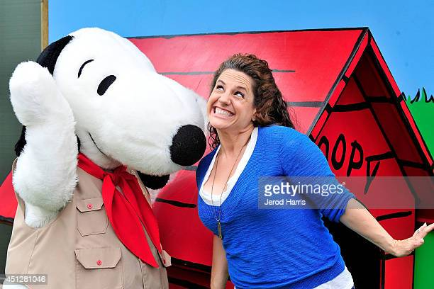Marisa Jaret Winokur attends Camp Snoopy's 30th anniversary VIP party at Knott's Berry Farm on June 26 2014 in Buena Park California