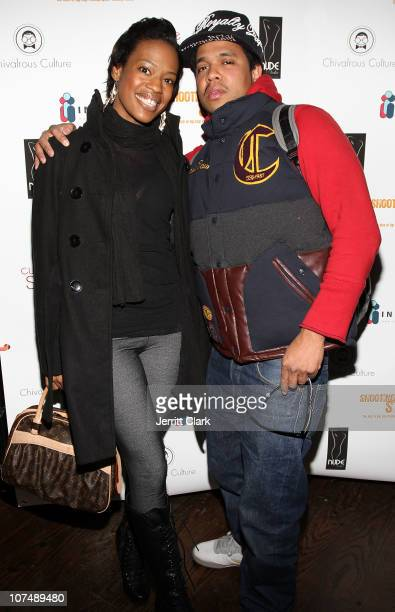 Marisa KingRedwood and Johnny Nunez attend the Shooting Star The Rise of Hip Hop Photographer Johnny Nunez DVD release party at Veranda on December 8...