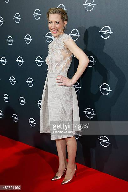 Marisa Leonie Bach attends the 'Corsa Karl Und Choupette' Vernissage on February 03 2015 in Berlin Germany