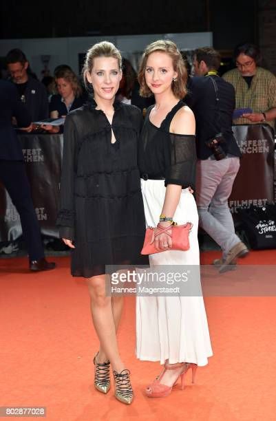 Marisa Leonie Bach und Amelie Plaas-Link attend the 'Berlin Fallen' Premiere during Munich Film Festival 2017 at Gasteig on June 28, 2017 in Munich,...