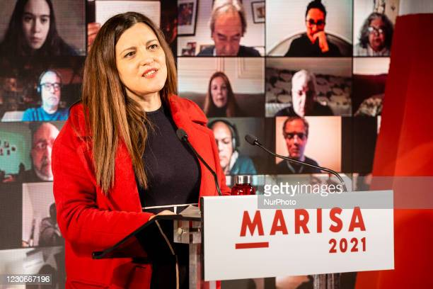 Marisa Matias, candidate for the presidency of Bloco de Esquerda, in a Virtual Rally, attended by several personalities such as activist Guilherme...