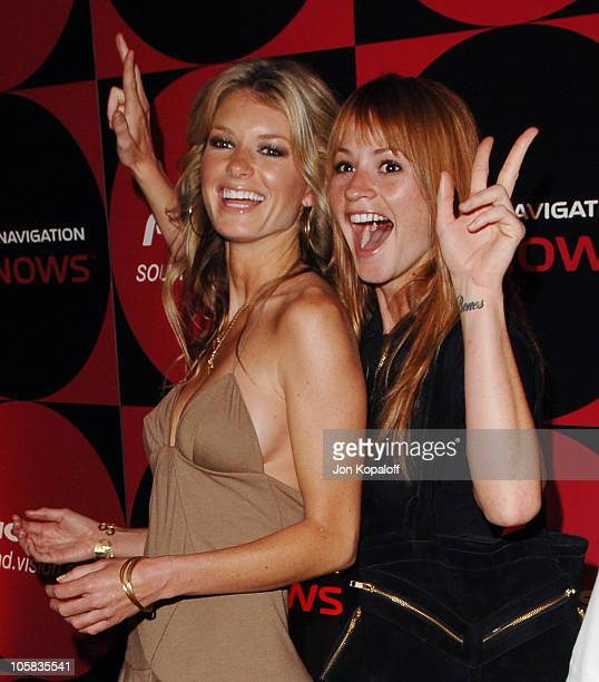 Marisa Miller and Cameron Richardson during Pioneer Electronics Party at Montmartre Lounge in Hollywood California United States