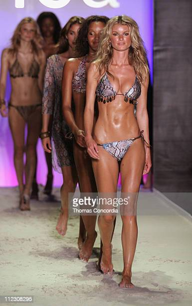 Marisa Miller and models wearing Inca during Sunglass Hut Swim Shows Miami Presented by LYCRA Inca Runway at Raleigh Hotel in Miami Beach Florida...